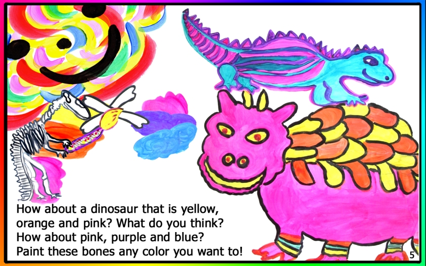 A page from Color Specialist: Dinosaur Paintologist, A Laurie StorEBook!