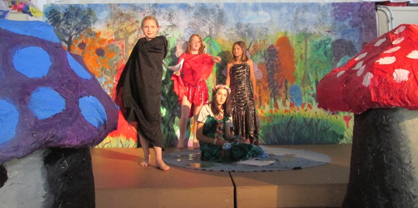 "Our original, musical play, ""Rainbow Forest"""