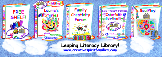 Leaping Literacy Library for Traditional, Creative, & Spiritual Family Literacy!