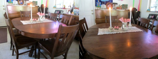 Ah, the power of lemon oil brings back the old shine! Gorgeous old wood ~ and stories ~ resurrected!