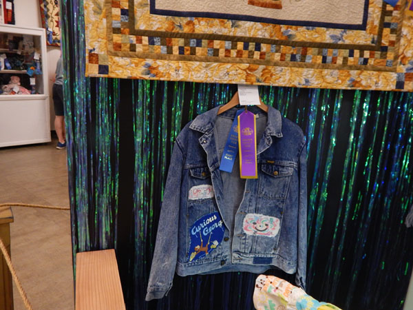 The jacket garnered ribbons I strongly suspect because no one else entered recycled wearables!