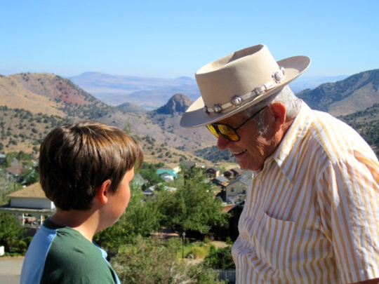 Dad with Jeremiah at Virginia City 3 years ago ...