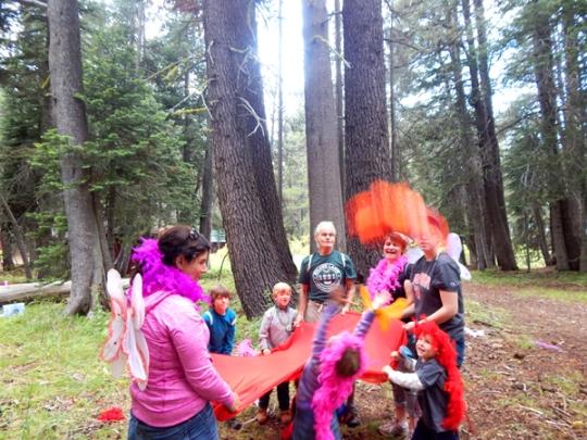 Look! A big flying fairy!