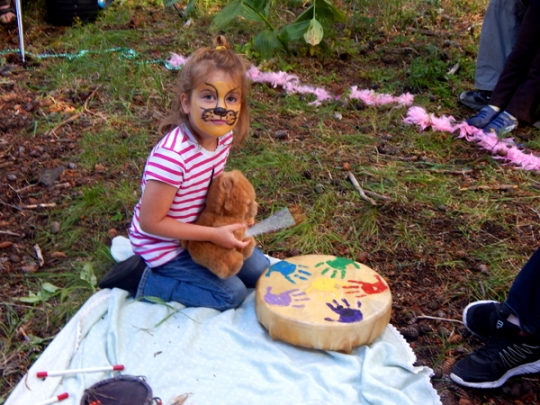 Teddy bears, face paint, and drumming, oh my!